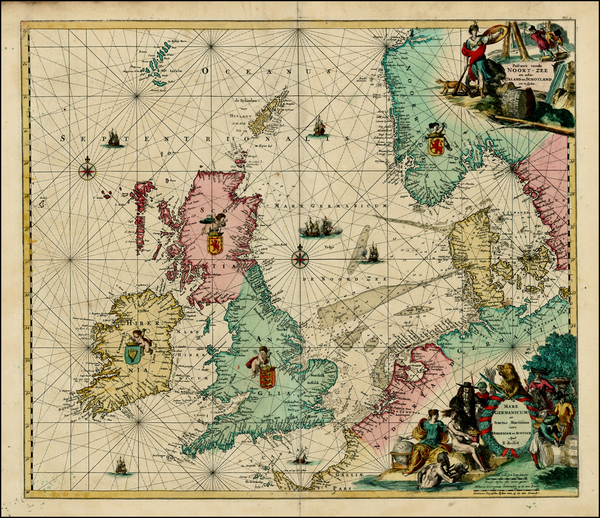 8-British Isles, Netherlands, Germany and Scandinavia Map By Louis Renard