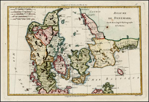 78-Scandinavia Map By Rigobert Bonne