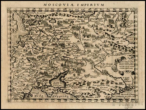 29-Russia and Ukraine Map By Giovanni Antonio Magini