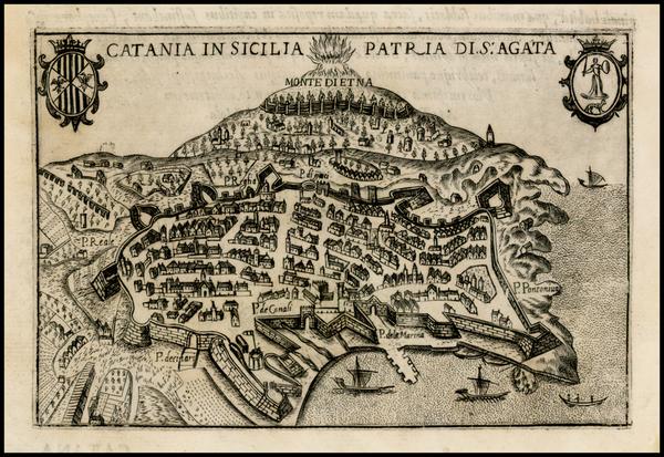 68-Italy Map By Pietro Bertelli