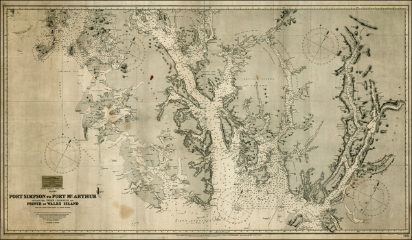 Alaska Map By British Admiralty