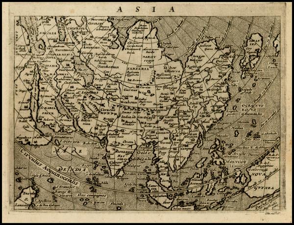 70-Asia, Asia and Australia Map By Giovanni Antonio Magini