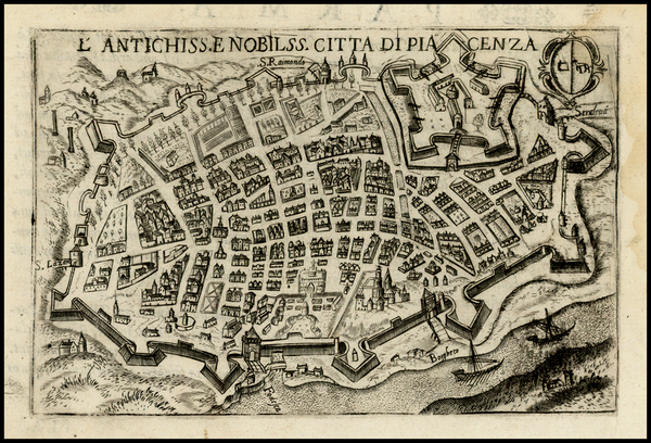 Italy, Northern Italy and Other Italian Cities Map By Pietro Bertelli