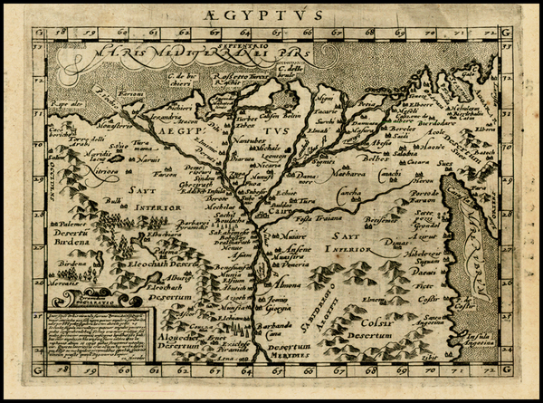 17-Egypt and North Africa Map By Giovanni Antonio Magini