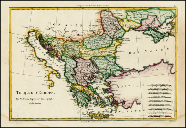 12-Ukraine, Balkans, Greece and Turkey Map By Rigobert Bonne