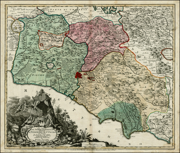 67-Italy Map By Matthaus Seutter