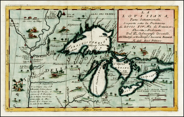 100-Midwest and Canada Map By Vincenzo Maria Coronelli