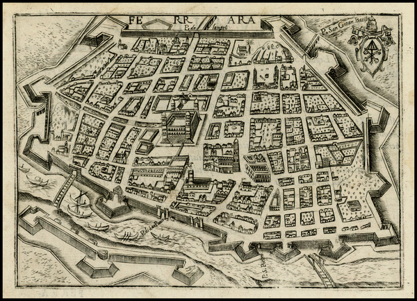 91-Italy Map By Pietro Bertelli