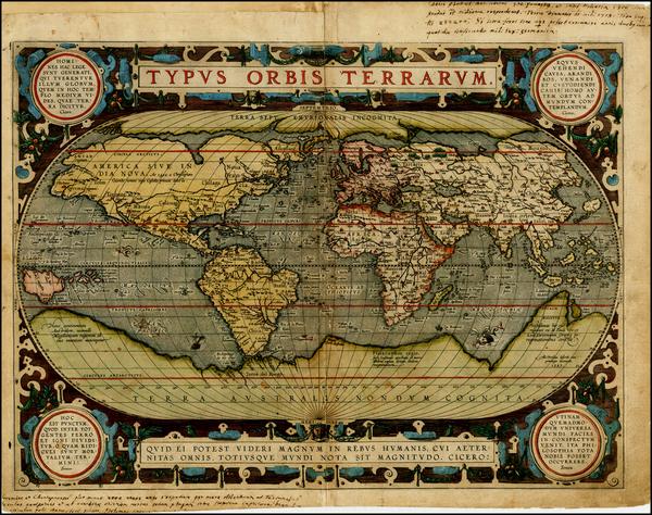 58-World Map By Abraham Ortelius