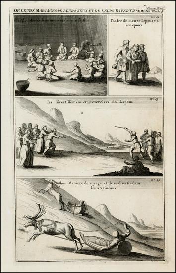 2-Polar Maps and Scandinavia Map By Henri Chatelain