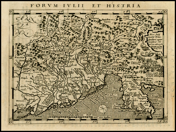 46-Italy Map By Giovanni Antonio Magini