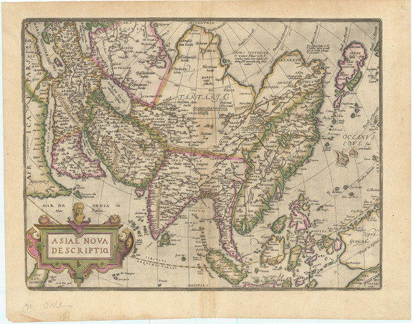 26-Asia and Asia Map By Abraham Ortelius