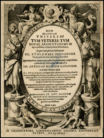 31-Curiosities and Title Pages Map By Giovanni Antonio Magini