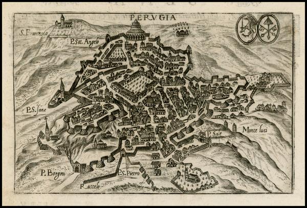 28-Italy Map By Pietro Bertelli