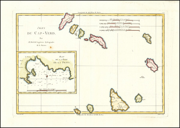 45-African Islands, including Madagascar Map By Rigobert Bonne