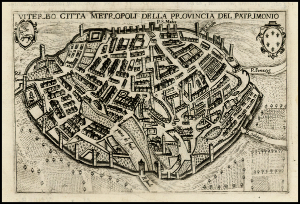 88-Italy Map By Pietro Bertelli