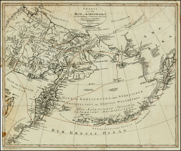 46-Polar Maps, Alaska, China, Other Islands, Pacific and Russia in Asia Map By Land Industrie Comp