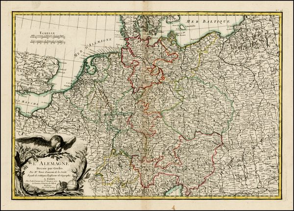 87-Netherlands, Germany, Austria, Poland, Hungary and Baltic Countries Map By Jean Janvier / Jean