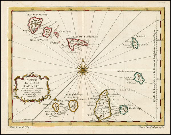 47-West Africa and African Islands, including Madagascar Map By Jacques Nicolas Bellin