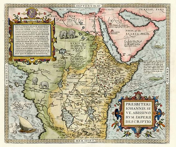 70-Africa, Africa, North Africa, East Africa and West Africa Map By Abraham Ortelius