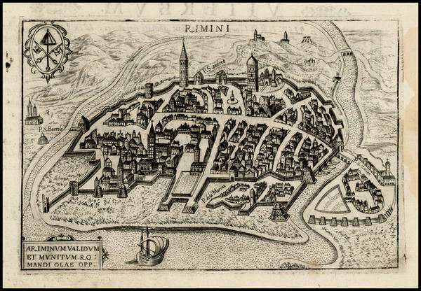 35-Italy Map By Pietro Bertelli