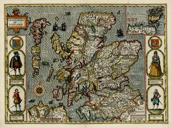 19-British Isles and Scotland Map By John Speed