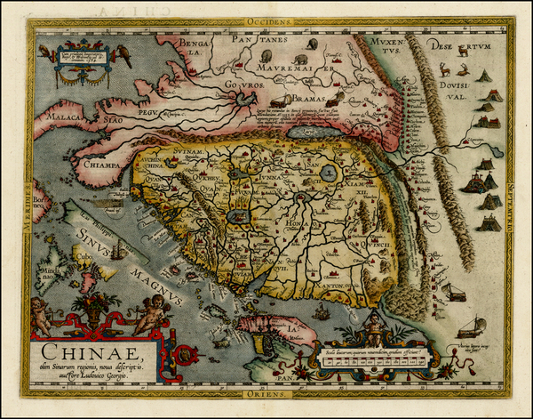 91-China, Japan, Southeast Asia and Philippines Map By Abraham Ortelius