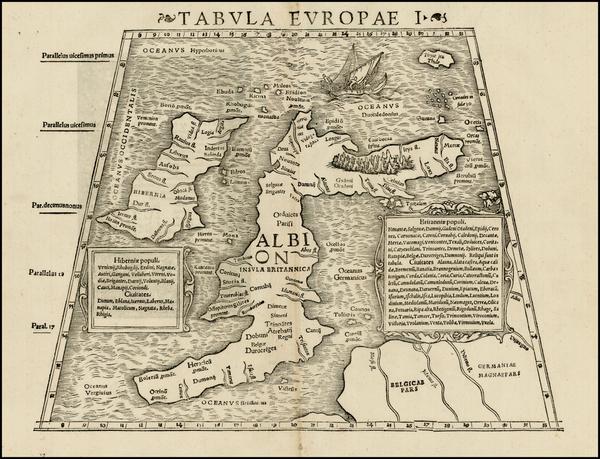 53-British Isles Map By Sebastian Munster