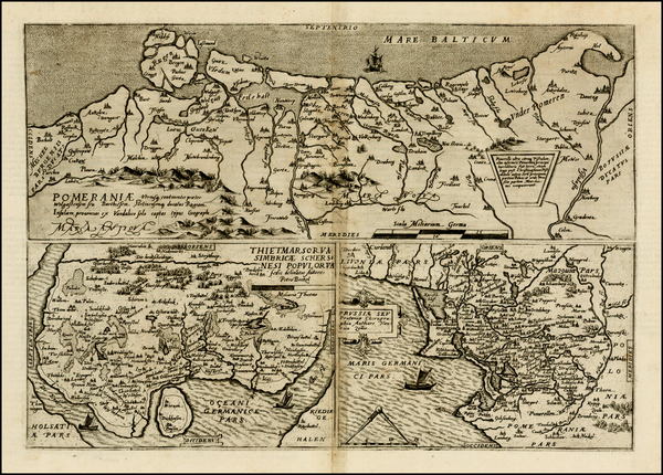 65-Germany, Poland and Baltic Countries Map By Cornelis de Jode