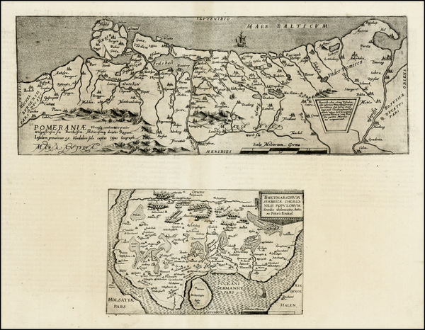 80-Germany and Poland Map By Cornelis de Jode