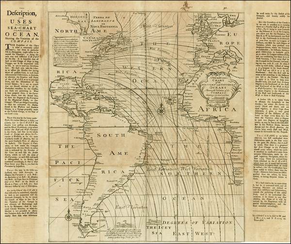 2-Atlantic Ocean, South America, Africa, Africa and America Map By Mount & Page