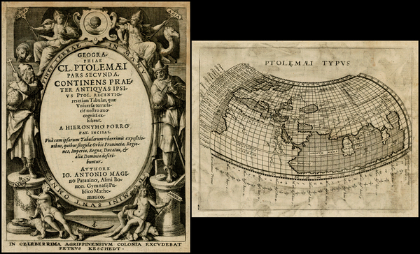 62-World, World and Title Pages Map By Giovanni Antonio Magini