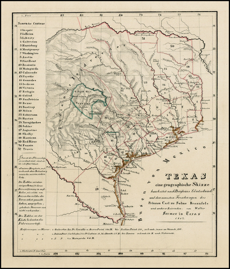 76-Texas Map By Anonymous