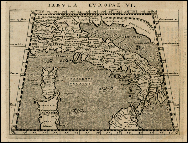 9-Italy and Balearic Islands Map By Giovanni Antonio Magini