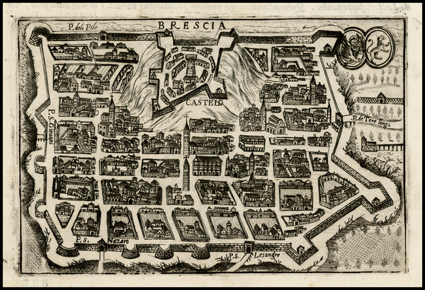 12-Italy Map By Pietro Bertelli