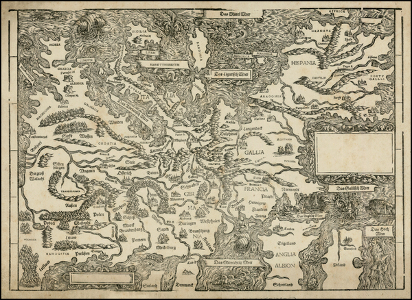 42-Europe and Europe Map By Johann Stumpf