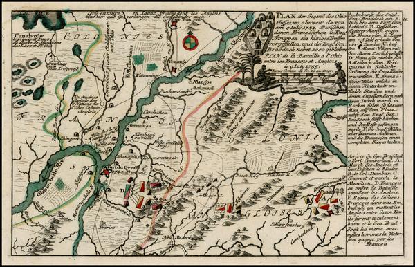 48-Midwest Map By Christian Friedrich von der Heiden