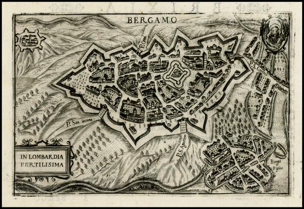 84-Italy Map By Pietro Bertelli