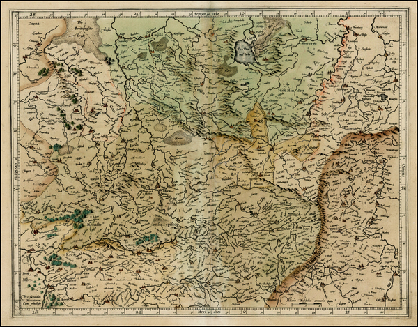 77-Germany Map By  Gerard Mercator