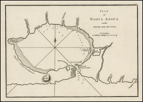 34-Cuba Map By Sayer & Bennett