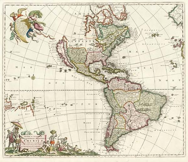 31-North America, South America, Australia & Oceania, Australia, Oceania and America Map By Fr