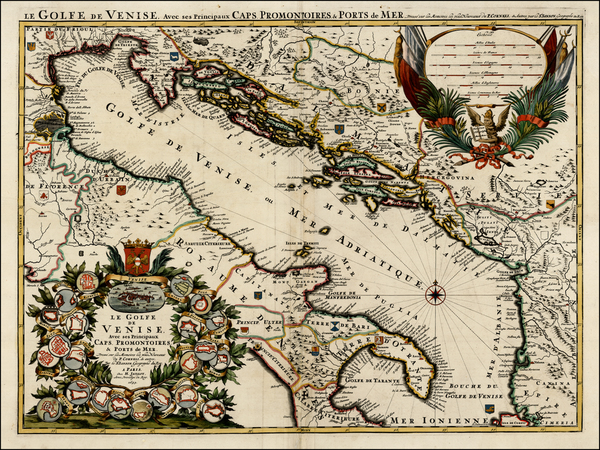 21-Balkans, Italy and Balearic Islands Map By Alexis-Hubert Jaillot