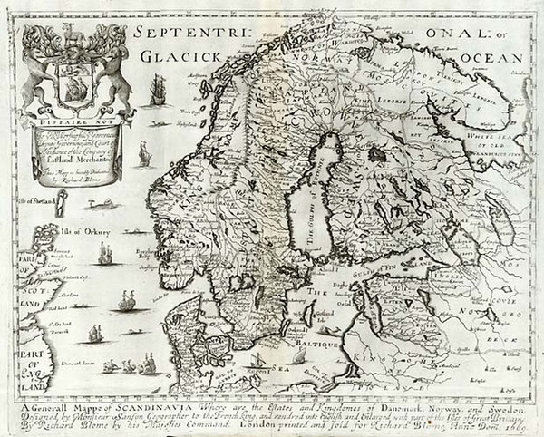 84-Europe, Baltic Countries and Scandinavia Map By Richard Blome