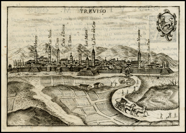 98-Italy Map By Pietro Bertelli