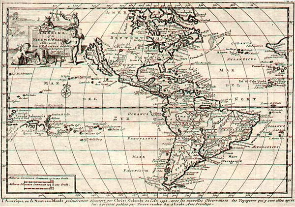99-South America and America Map By Pieter van der Aa