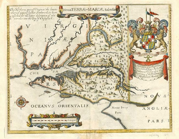 20-Mid-Atlantic and Southeast Map By John Ogilby