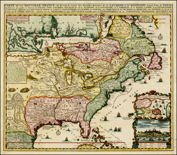 69-United States, Mid-Atlantic, South, Southeast, Midwest, Plains, North America and Canada Map By