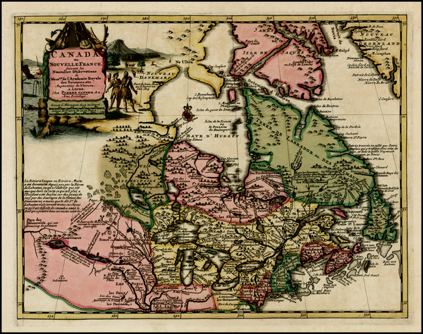 54-New England, Midwest and Canada Map By Pieter van der Aa