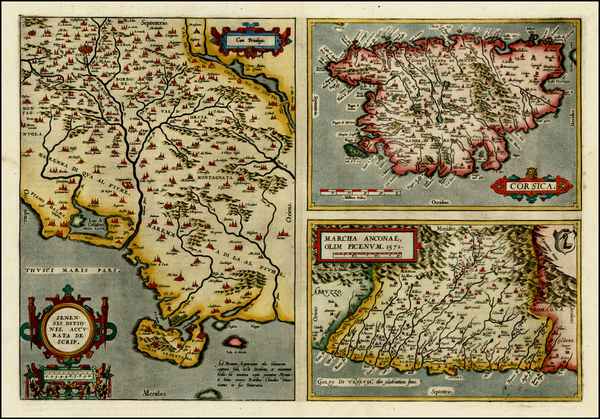 27-France, Italy and Balearic Islands Map By Abraham Ortelius