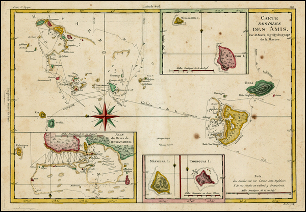89-Australia & Oceania and Other Pacific Islands Map By Rigobert Bonne